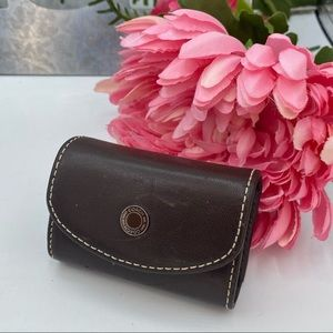 Coach Brown Leather Contact Lense Holder